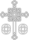 Knotted celtic cross stencil