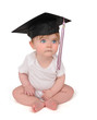 Education Graduation Baby on White