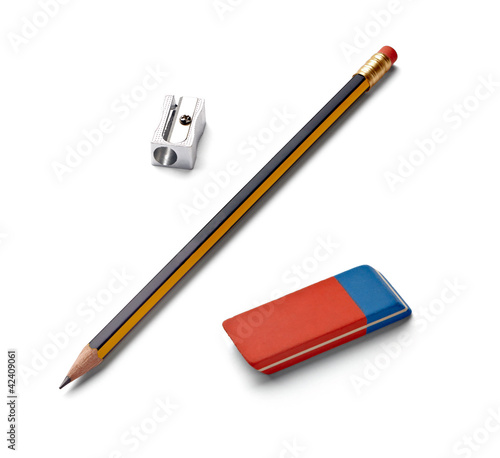 pencil eraser sharpener school education