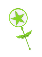 Magic wand with a star symbol.