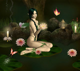 Water lily nymph