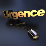 Online urgence in gold poster