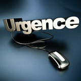 Online urgence in silver poster