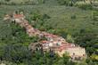 Leinwandbild Motiv Scenic position of Collodi village with villa Garzoni, famous al