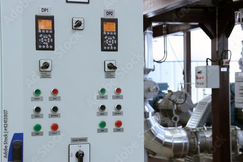 Leinwandbild Motiv control panel