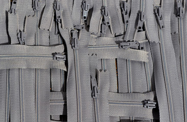 background graw clothing zippers