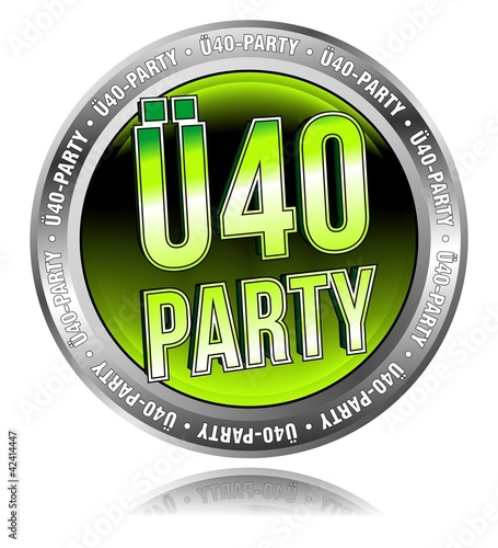 Ü40 Party - Button