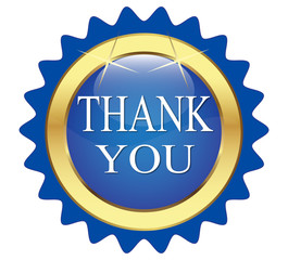 "blue button that says ""Thanks"""
