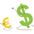 Währungen, Dollar jagt Euro