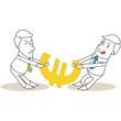 Geschäftsleute, Streit um Euro