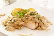 Hähnchensteak mit Pilz-Senf-Sauce