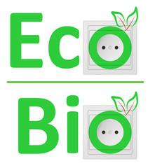 ecological concept, symbolizing bio energy