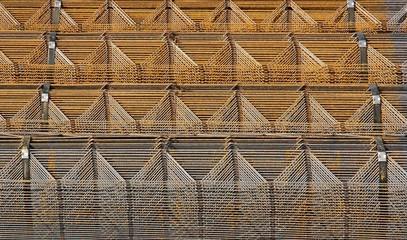 structure d'acier, géométrie métallique