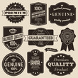 A set of vintage design labels and badges.