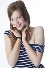 Shy russian girl