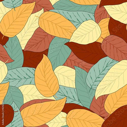 Abstract seamless background with leaves