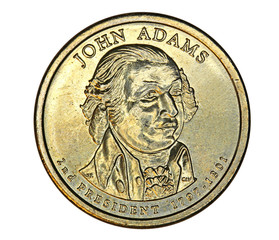 John Adams dollar coin