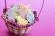 Easter cookies in basket