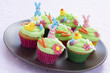 Easter cupcakes on plate