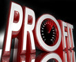 Profit Word Speedometer Improve Sales Increase Revenue
