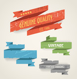 Colorful polygonal origami vintage banners poster