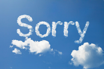 Cloud sorry word