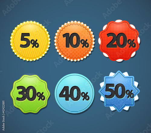 Different sale paper stickers collection