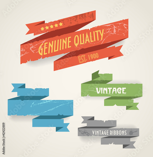 Colorful polygonal origami vintage banners