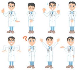 若い医者のポーズ集
