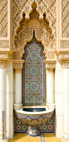 Leinwanddruck Bild Moroccan architecture design