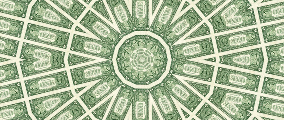 Composition one American dollar