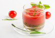 Cold Gazpacho soup in glass