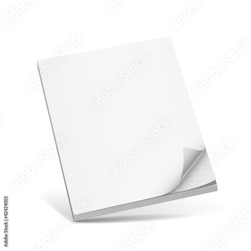 Cover white book vector