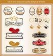 Set of retro bakery quality badges and labels