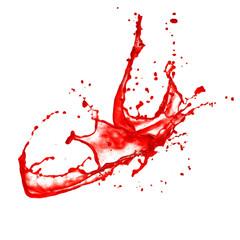 Blood splash, isolated on white background