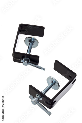 image of two clamps