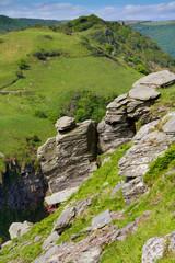 View from Castle Rock in Lynton Devon