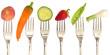 vegetables on the fork, diet concept