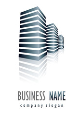 Business logo scraper glossy design