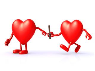 relay between hearts