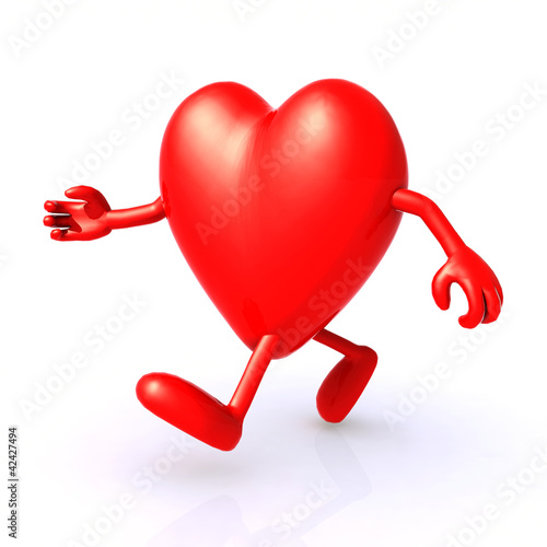 big 3d heart running