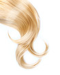 Leinwandbild Motiv Healthy Blond Hair Isolated On White