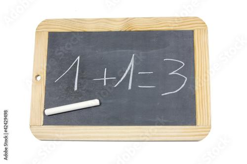 ardoise 1+1=3