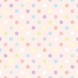 Colorful dots pink background retro seamless vector pattern