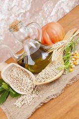Mixture of legumes and cereals