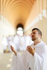 Muslim pilgrims at Miqat
