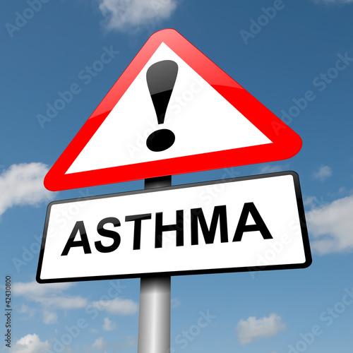 Asthma concept.