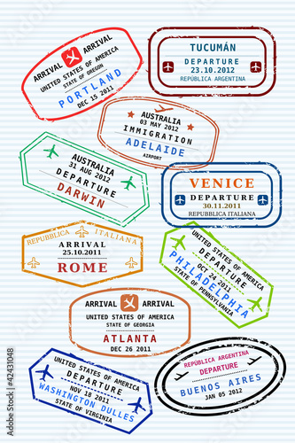 Passport stamps - various destinations