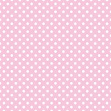 Fototapety Polka dots on baby pink background retro seamless vector pattern