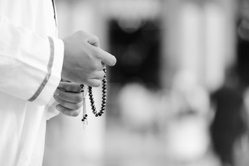 Rosary in hands